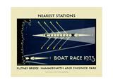 Boat Race 1923 Giclée-Druck von  Transport for London