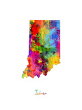 Indiana Map Photographic Print by Michael Tompsett