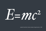 Einstein E equals mc2 Photographic Print by Michael Tompsett