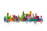 Chicago Illinois Skyline Prints by Michael Tompsett