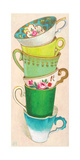 6 Tea Cups Giclee Print by Andrea Letterie