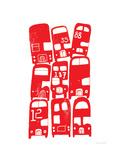 Stacking Buses Wydruk giclee autor biroRobot