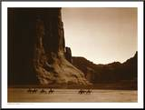 Navajos, Canyon De Chelly, c.1904 Mounted Print by Edward S. Curtis