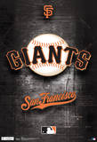 San Francisco Giants Logo Sports Poster Plakater