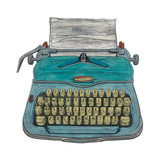 Typewriter Giclee Print by Barry Goodman