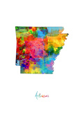Arkansas Map Photographic Print by Michael Tompsett