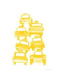 Cabs Giclée-tryk af biroRobot