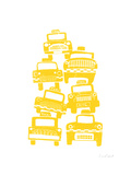 Cabs Giclee Print by  biroRobot