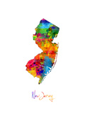New Jersey Map Photographic Print by Michael Tompsett
