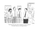 """""""You know how some writers are known as 'writer's writers'? I'm what's kno…"""" - New Yorker Cartoon Premium Giclee Print by Charlie Hankin"""