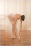 Ballerina Ballet Tie Shoes Art Print Poster Dance Prima Foto