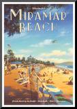Miramar Beach, Montecitos Mounted Print by Kerne Erickson