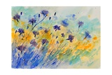 Watercolor Cornflowers Photographic Print by  Ledent