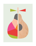 Geometric Pear Giclee Print by  Little Design Haus