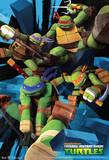 Teenage Mutant Ninja Turtles Attack Cartoon Poster Pósters