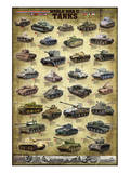 Tanks of WWII Poster