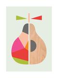 Geometric Pear Giclee Print by  Little Design Haus