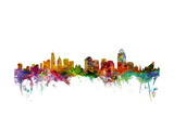 Cincinnati Ohio Skyline Prints by Michael Tompsett