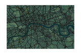 London England Street Map Photographic Print by Michael Tompsett