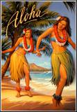 Aloha, Hawaii Mounted Print by Kerne Erickson