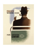 Stagger Working Hours Giclee Print by  Transport for London