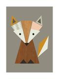 Geometric Fox Giclée-tryk af  Little Design Haus