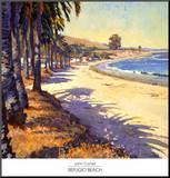 Refugio Beach Mounted Print by John Comer