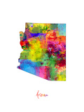 Arizona Map Photographic Print by Michael Tompsett