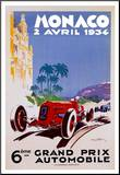 Monaco 1934 Mounted Print by Geo Ham