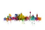 San Antonio Texas Skyline Photographic Print by Michael Tompsett