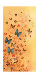 Butterflies on Warm Ochre Giclee Print by Lily Greenwood