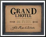 Grand l'Hotel Mounted Print