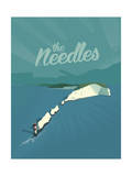The Needles Giclee Print by Adam McNaught-Davis