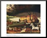 Noah's Ark Mounted Print by Edward Hicks