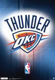 Oklahoma City Thunder Logo Nba Sports Poster Reprodukcje