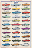 American Autos of 1960-1969 - Poster