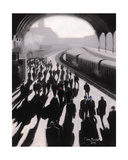 Victoria Station, London - 1934 Giclee Print by Jon Barker