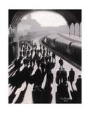 Victoria Station, London - 1934 Giclee Print by Jon Barker