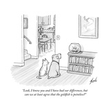 """Look, I know you and I have had our differences, but can we at least agre…"" - New Yorker Cartoon Premium Giclee Print by Tom Toro"