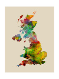 Great Britain Watercolor Map Photographic Print by Michael Tompsett