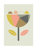 Little Design Haus - Scandi Flower - Giclee Baskı