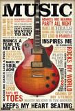 Music Inspires Me Poster Plakaty