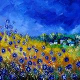 Blue Cornflowers 7741 Photographic Print by  Ledent