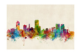 Wellington New Zealand Skyline Prints by Michael Tompsett