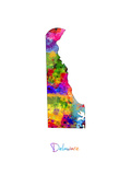 Delaware Map Photographic Print by Michael Tompsett