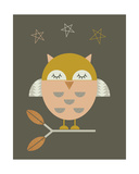 Little Owl Giclee Print by  Little Design Haus