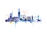 London Skyline Giclee Print by Summer Thornton