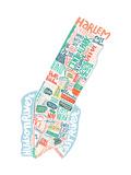 New York Map Giclee Print by Benoit Cesari