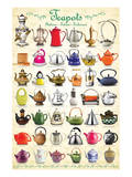Teapots Collage Prints