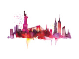New York Skyline Giclee Print by Summer Thornton